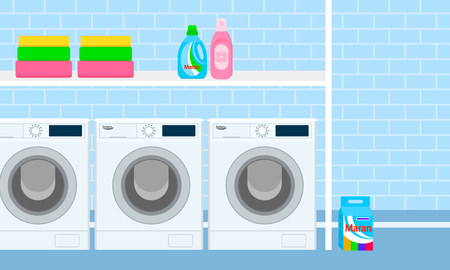 Subsoil laundry concept banner. Flat illustration of subsoil laundry vector concept banner for web design