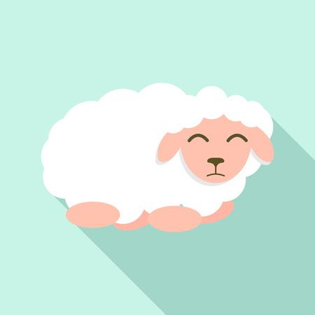 Icono de oveja triste. Ilustración plana de icono de vector de oveja triste para diseño web