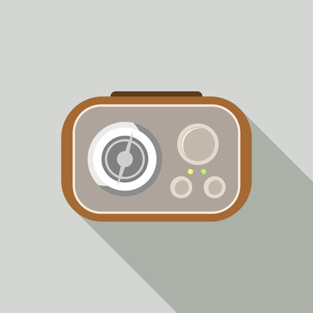 Old fm radio icon. Flat illustration of old fm radio vector icon for web design