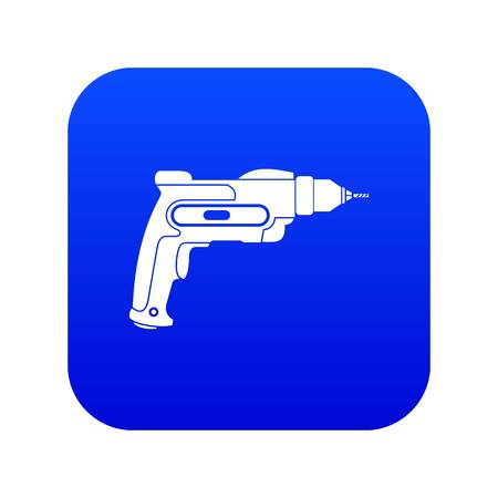 Hand drill icon digital blue for any design isolated on white vector illustration