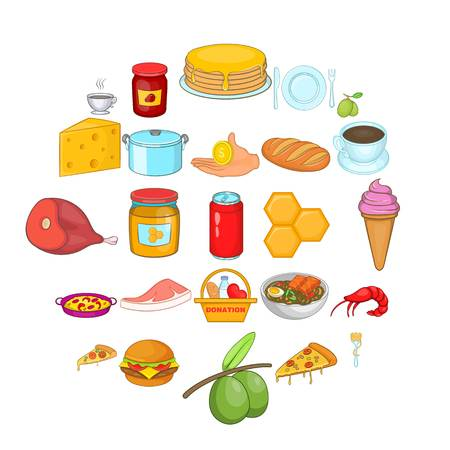 Jar icons set. Cartoon set of 25 jar vector icons for web isolated on white background