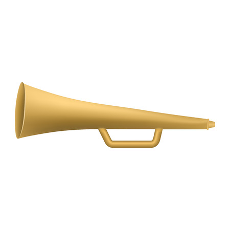 Hand horn trumpet icon, realistic style Vectores