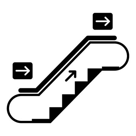 Empty move up escalator icon, simple style