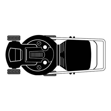 Icône de tondeuse à gazon vue de dessus. Simple illustration de l'icône vecteur tondeuse vue de dessus pour la conception web isolé sur fond blanc Vecteurs