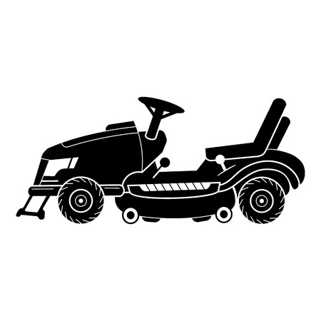 Tractor lawn mower icon. Simple illustration of tractor lawn mower vector icon for web design isolated on white background