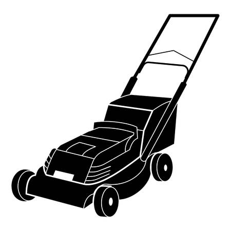 Electric lawn mower icon, simple style