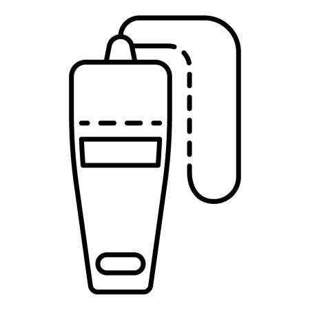 Top view whistle icon, outline style