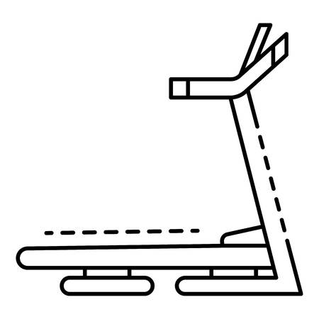 Treadmill icon, outline style