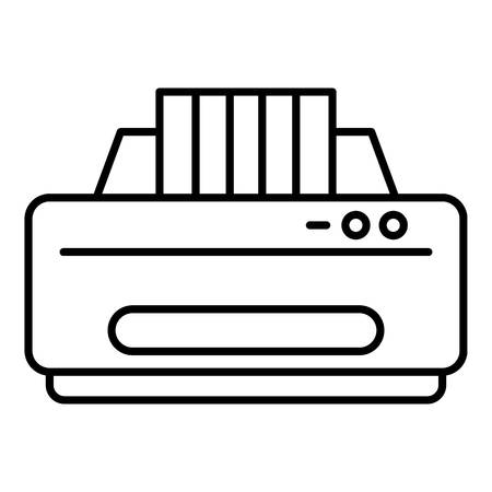 Jet printer icon, outline style 矢量图像