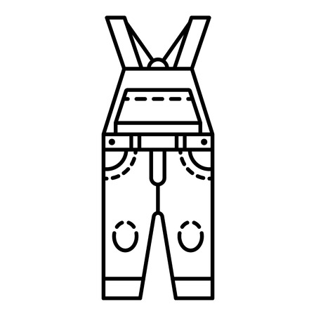 Overalls icon. Outline overalls vector icon for web design isolated on white background