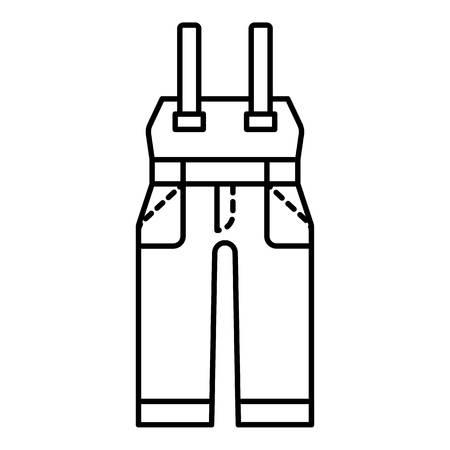 Icono de ropa de trabajo de seguridad. Esquema de ropa de trabajo de seguridad icono vectoriales para diseño web aislado sobre fondo blanco. Ilustración de vector