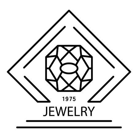 Elegant jewelry, outline style Vecteurs