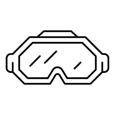Ski glasses icon, outline style