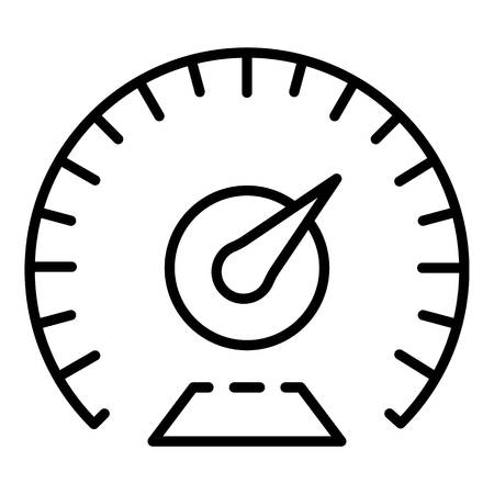 Km per hour speedometer icon, outline style