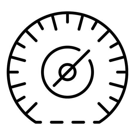Mile per hour speedometer icon, outline style