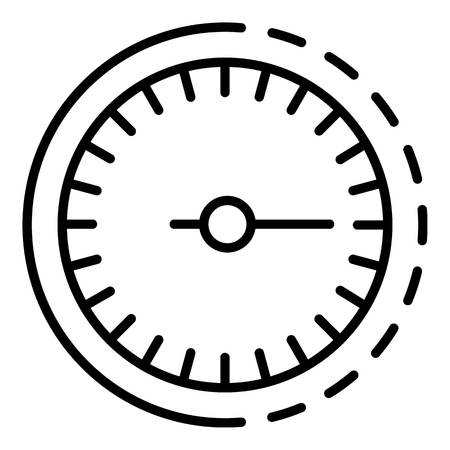 Odometer icon, outline style