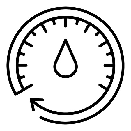 Oil meter icon. Outline oil meter vector icon for web design isolated on white background