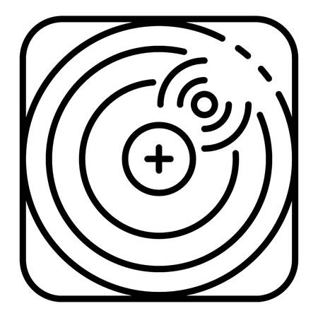 Drone radar location icon, outline style