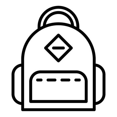 Student backpack icon. Outline student backpack vector icon for web design isolated on white background