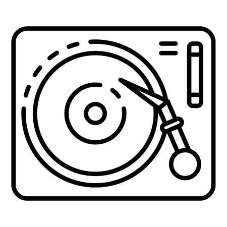 Vinyl play desk icon, outline style Ilustración de vector