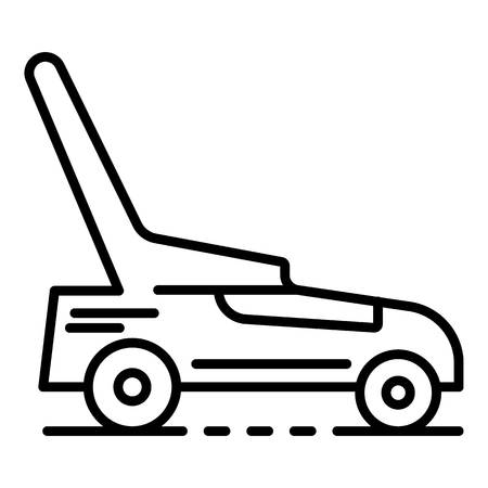 Lawnmower icon, outline style