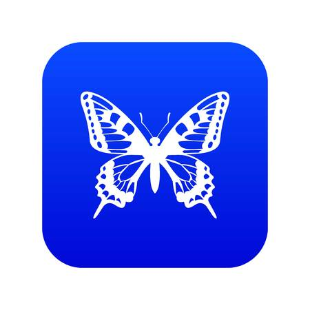 Butterfly icon digital blue for any design isolated on white vector illustration Stock Illustratie