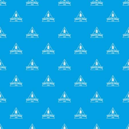 Pirate drink pattern vector seamless blue