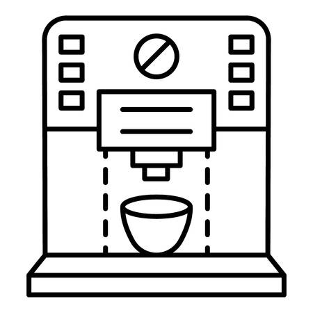 Plastic coffee machine icon, outline style