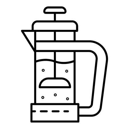 Glass tea infusion icon, outline style