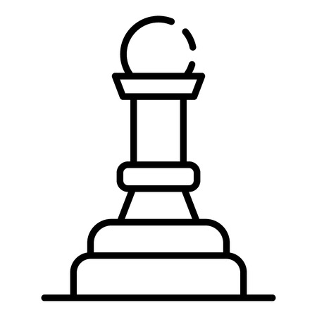 Chess pawn figure icon, outline style
