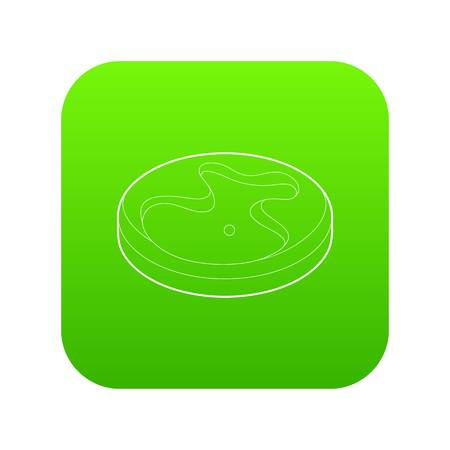 Golf field icon green vector
