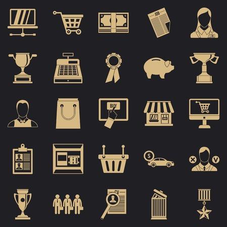 Monetary expenses icons set. Simple set of 25 monetary expenses vector icons for web for any design