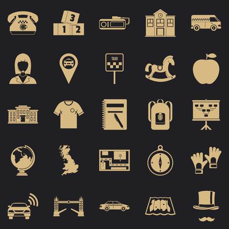Autobus icons set. Simple set of 25 autobus vector icons for web for any design