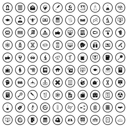 100 analytics icons set in simple style for any design vector illustration