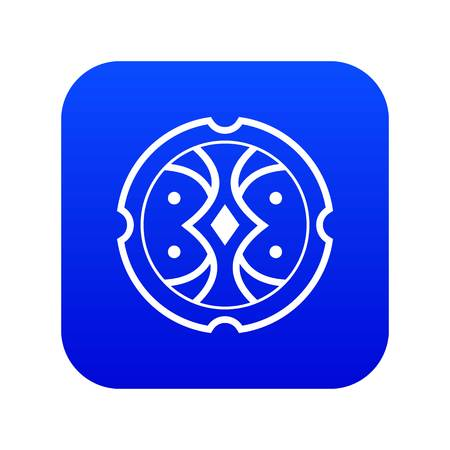 Shield icon digital blue for any design isolated on white vector illustration Ilustrace
