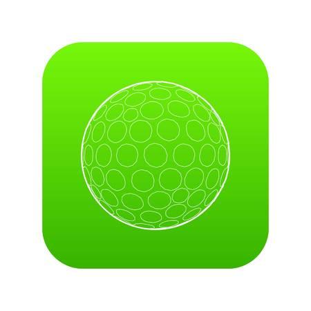 Golfing ball icon green vector
