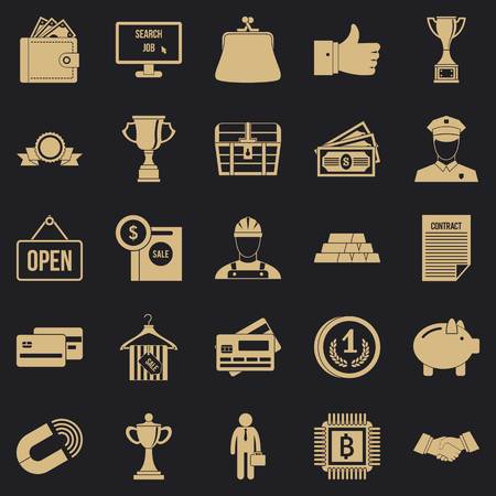 Cost icons set. Simple set of 25 cost vector icons for web for any design