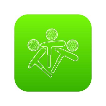 Golf emblem icon green vector Illustration