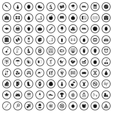 100 apple icons set in simple style for any design vector illustration