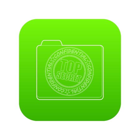 Top secret icon green vector