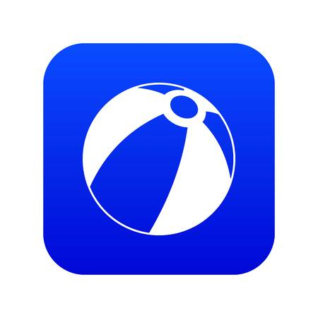 Beach ball icon digital blue
