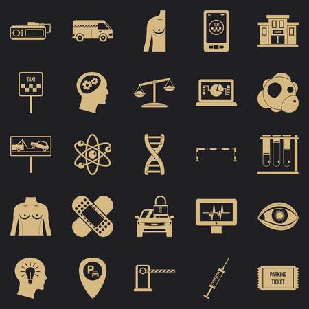 Staff icons set. Simple set of 25 staff vector icons for web for any design Illustration