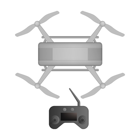 Toy drone icon, realistic style