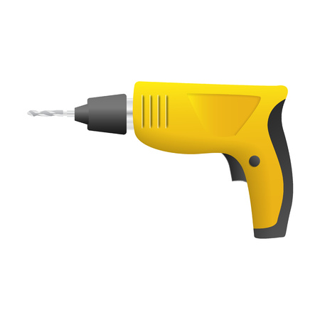 Home drill machine icon. Realistic illustration of home drill machine vector icon for web design isolated on white background