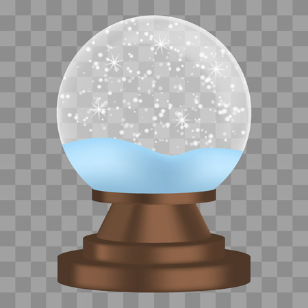 Christmas snowglobe icon. Realistic illustration of christmas snowglobe vector icon for web design isolated on white background