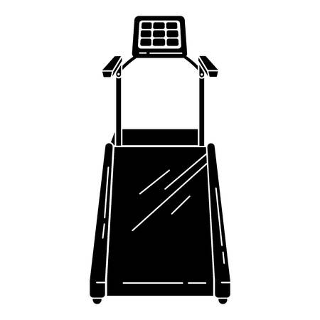 Electric treadmill icon. Simple illustration of electric treadmill vector icon for web design isolated on white background