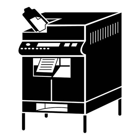 Office copier icon. Simple illustration of office copier vector icon for web design isolated on white background