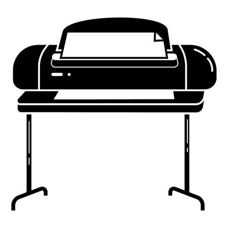 Wide oriented printer icon. Simple illustration of wide oriented printer vector icon for web design isolated on white background
