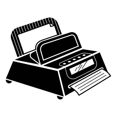 Fax machine icon. Simple illustration of fax machine vector icon for web design isolated on white background Illustration