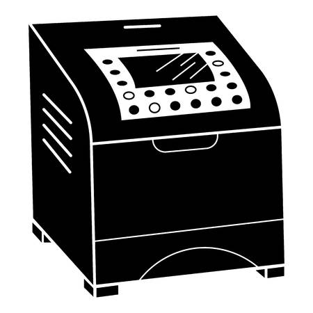Laser printer icon. Simple illustration of laser printer vector icon for web design isolated on white background